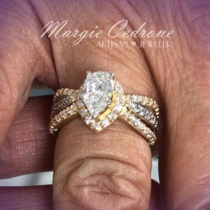 Margie-twotone-pear-diamond
