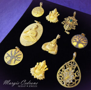 MargieCedrone-March-Gold-Karma-Pendants